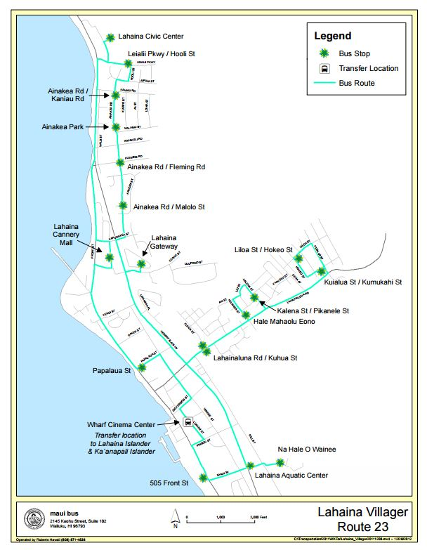Maui Bus Routes Map Hana Highway Maui Map Maui Counties Map - Maui zip codes