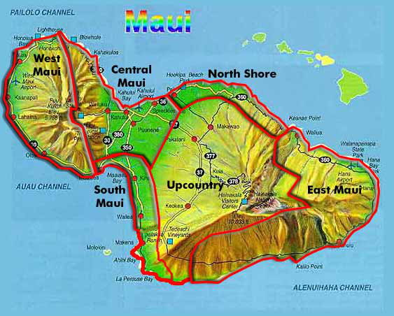 Maui Map From incrediblejourney.net