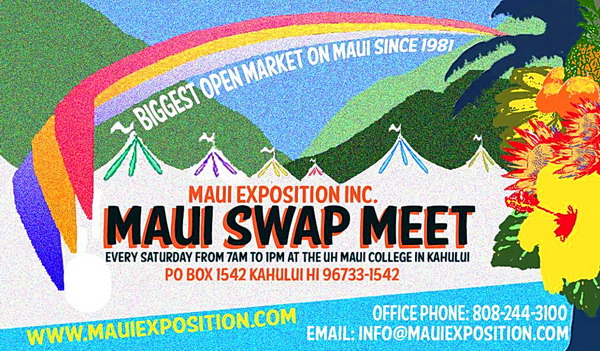 swap meet on Maui every saturday morning